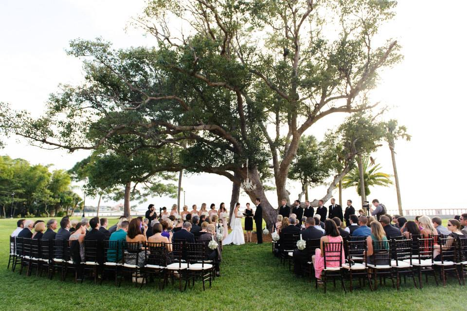 Charles Ringling Estate at New College Wedding - Officiant Grace Felice